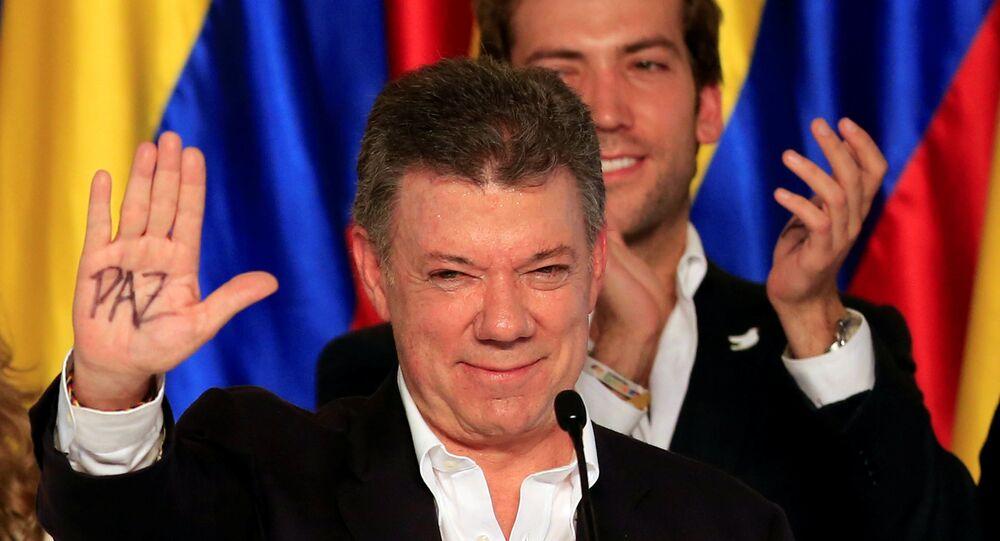Presidente da Colômbia, Juan Manuel Santos recebe o Prêmio Nobel da Paz 2016