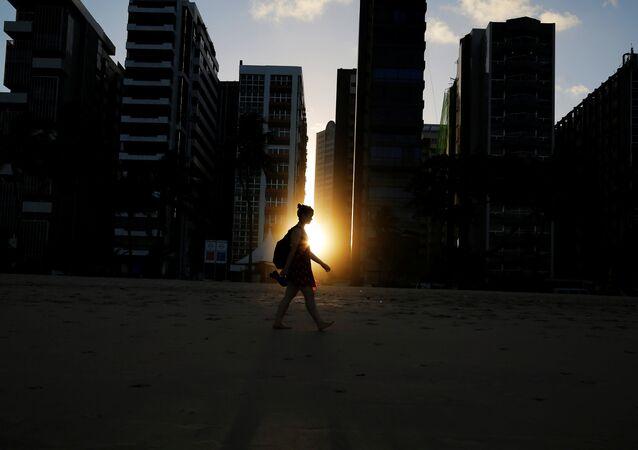 Pôr do sol em Recife