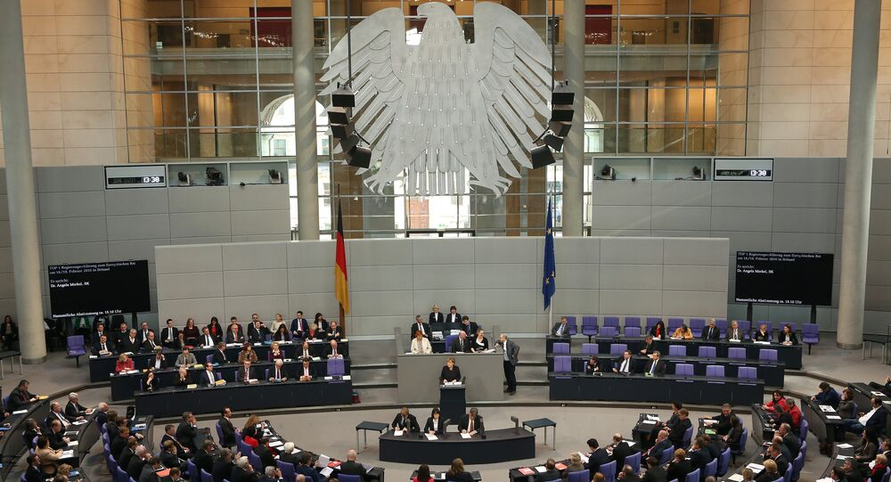 Parlamento alemão Bundestag em Berlin, Alemanha (foto de arquivo)