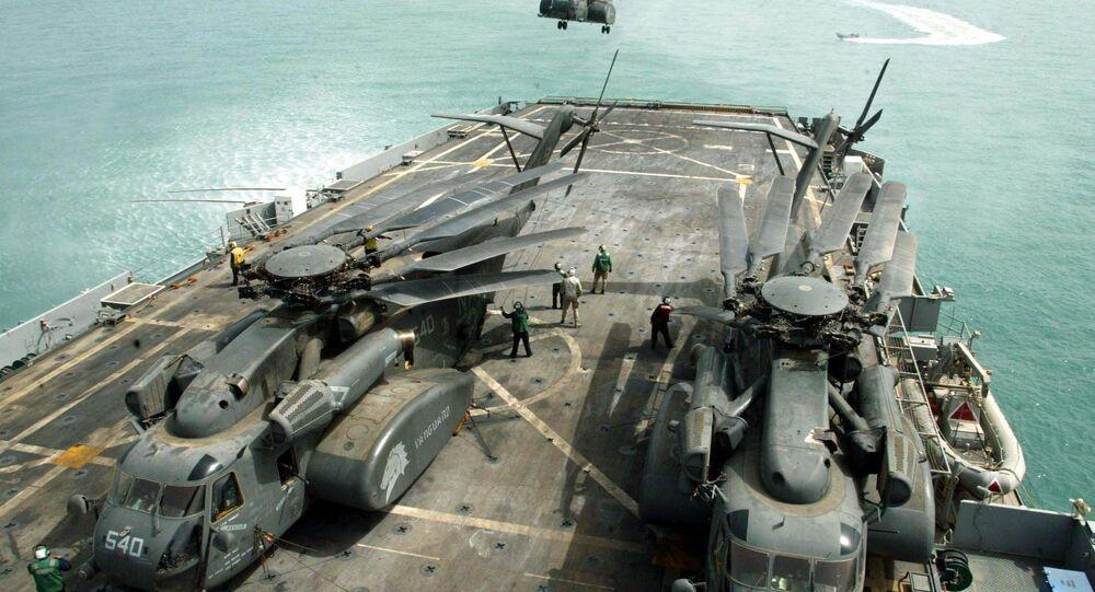 USS Ponce da Marinha americana no Iraque (arquivo)