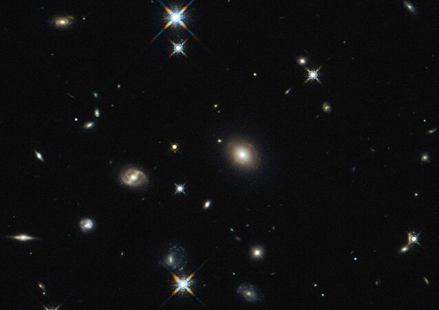 A imagem do Hubble mostra a galáxia SDP.81