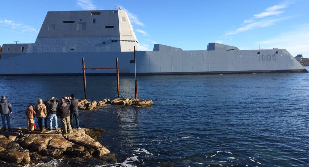 USS Zumwalt da Marinha dos EUA