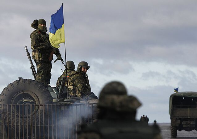 Forças ucranianas em Donetsk