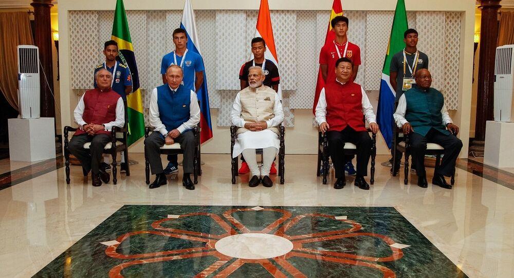 Presidente Michel Temer e Chefes de Estado e de Governo do BRICS