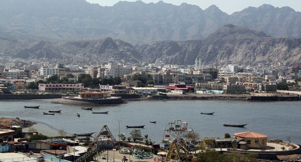 Porto de Aden, no sul do Iêmen