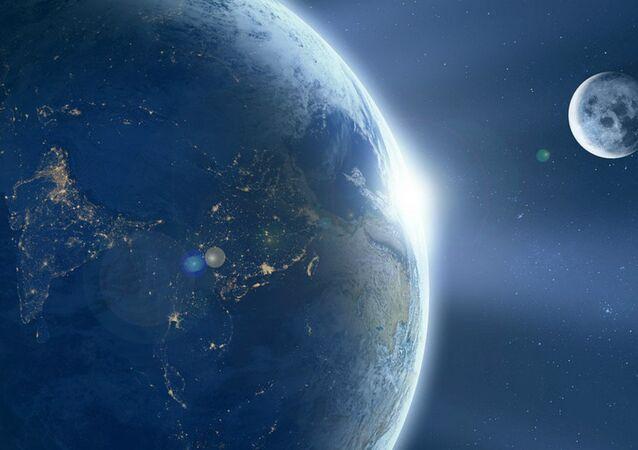 Terra e Lua, vista do espaço