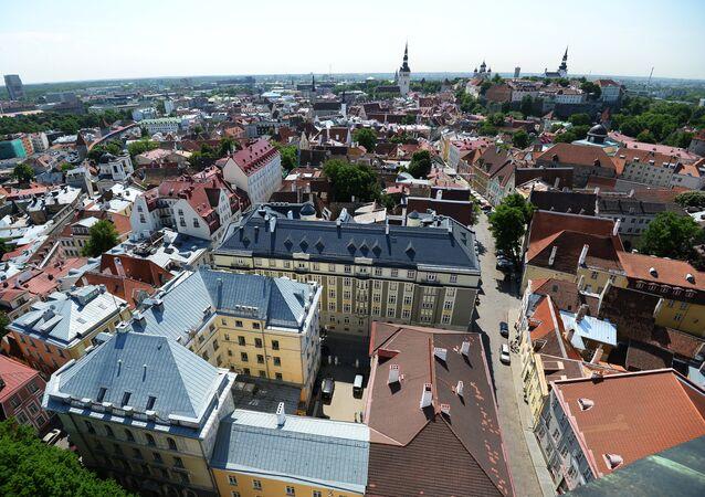 Vista de Tallin, capital da Estônia