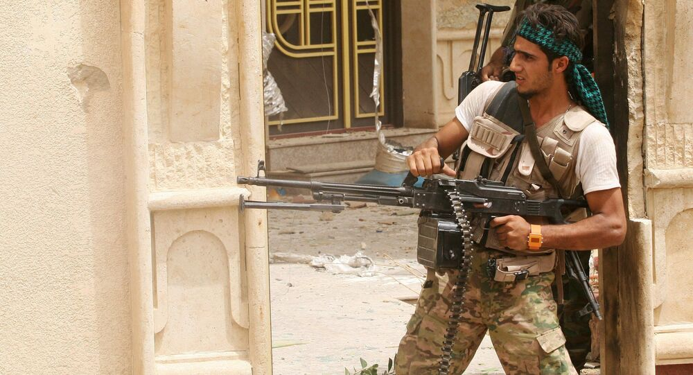 Combatentes das milícias xiitas