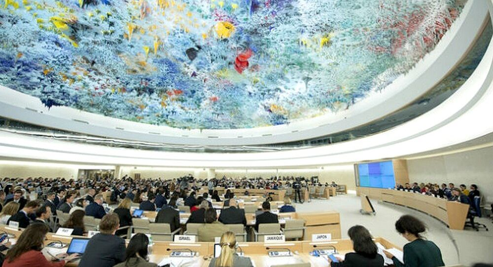 Saguão do Conselho de Direitos Humanos da ONU