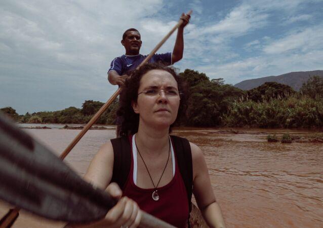 Imagem feita pelo documentarista Diogo Cunha durante filmagens de A Segunda Estrada de Ferro, sobre as consequências da tragédia de Mariana