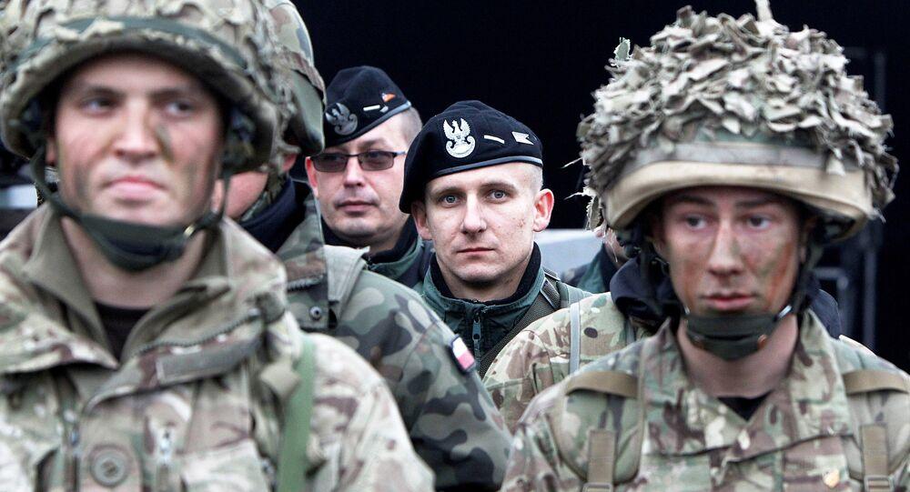 Militares britânicos na Polónia