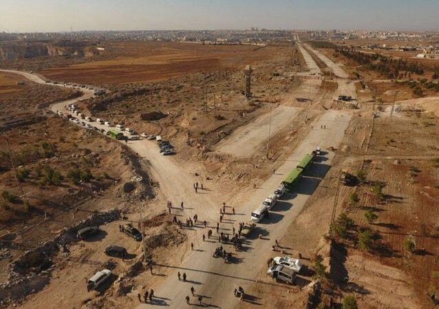 Estrada Castello, onde foi organizado um dos corredores humanitários de Aleppo