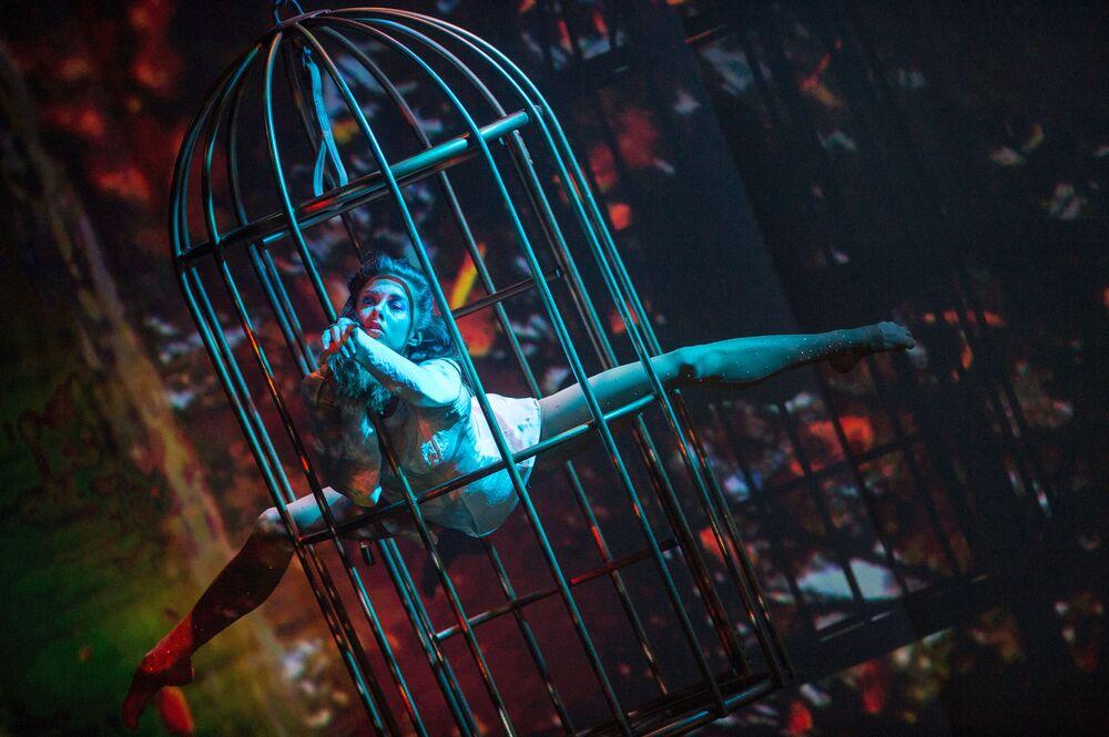 Show Homem Anfíbio em Moscou