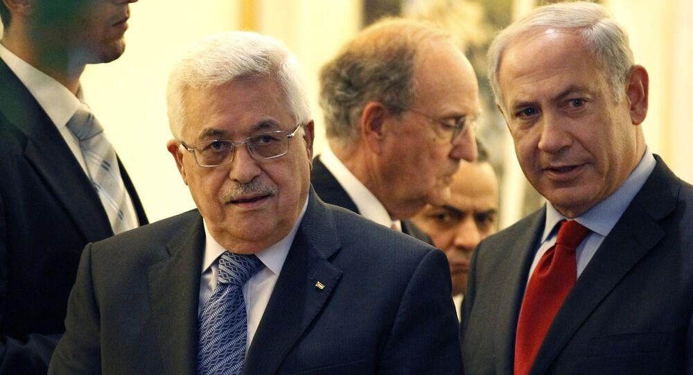 Presidente palestino Mahmoud Abbas e primeiro-ministro israelense Benjamin Netanyahu