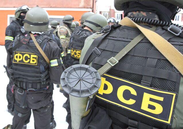 Agentes do Serviço Federal de Segurança da Rússia (arquivo)