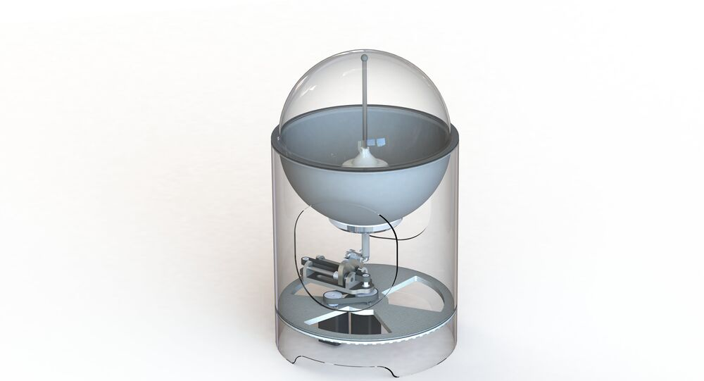 Modelo de dispositivo elaborado pela universidade russa MEPhI destinado ao tratamento de câncer