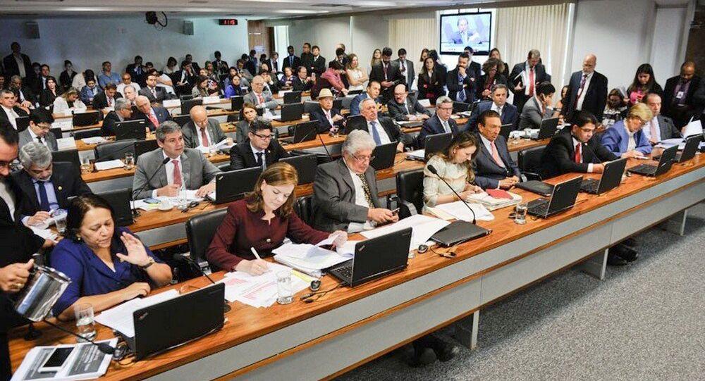 Reunião da CCJ em que foi aprovada a Pec do Teto de Gastos