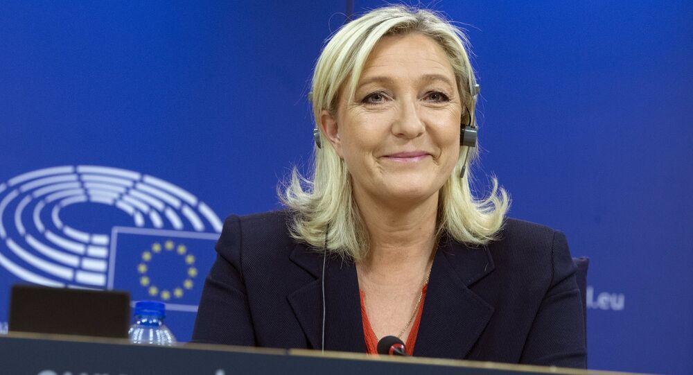 Marine Le Pen, líder do partido de extrema direita francês Frente Nacional