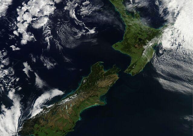 Nova Zelândia vista do espaço