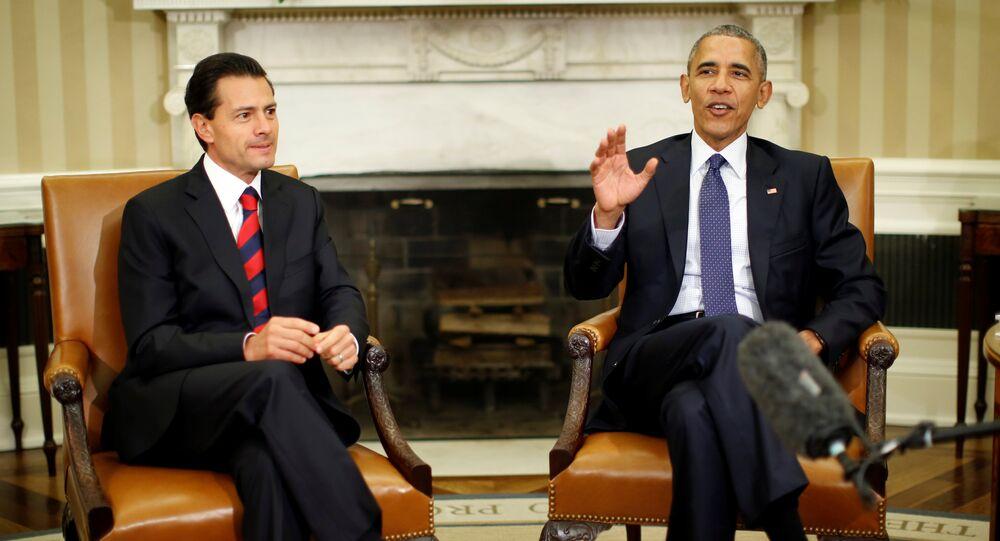 Enrique Peña Nieto e Barack Obama durante encontro na Casa Branca em 22 de julho de 2016