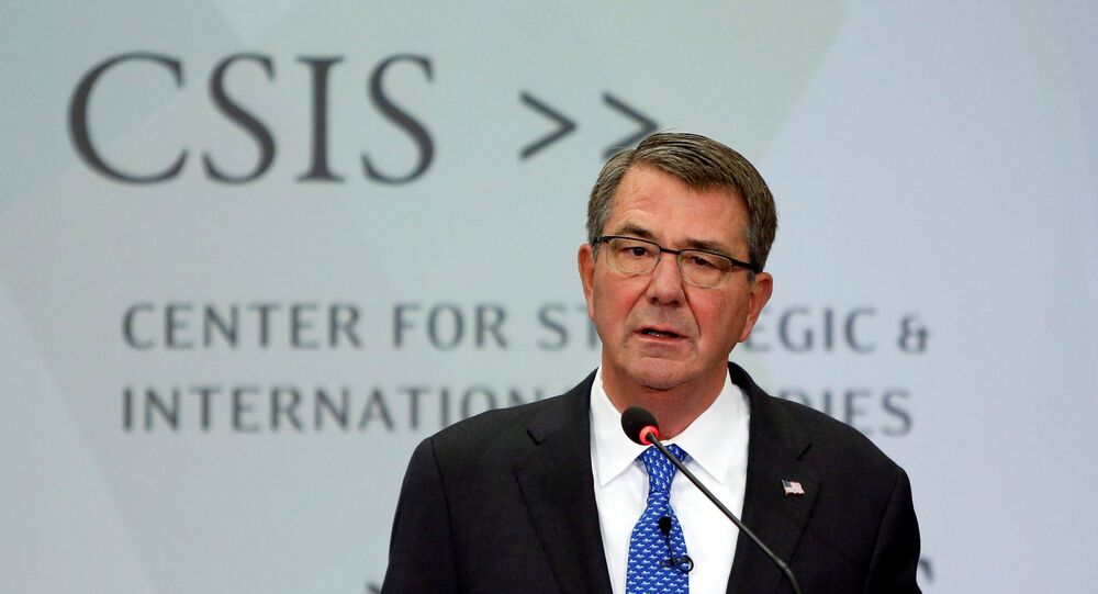 Ministro da Defera norte-americano e chefe do Pentágono discursa no Centre de Estudos Estratégicos e Internacionais