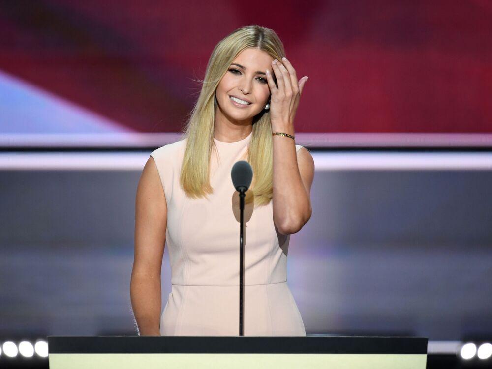 Ivanka antes de discursar na última noite da Convenção Nacional Republicana em Cleveland, Ohio, EUA, 21 de julho de 2016