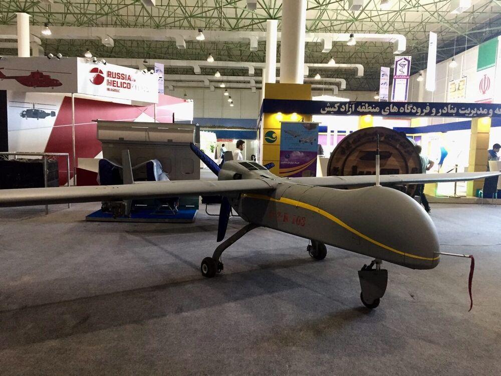 Drone de reconhecimento iraniano Fatrus. Este drone pode transportar uma grande quantidade de mísseis. A altitude de voo do drone é de cerca de 7600 metros. A tarefa principal deste drone é vigilância