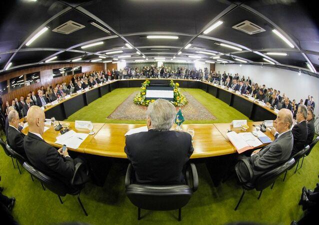 Presidente Michel Temer durante reunião Ministerial do Cone Sul sobre Segurança nas Fronteiras