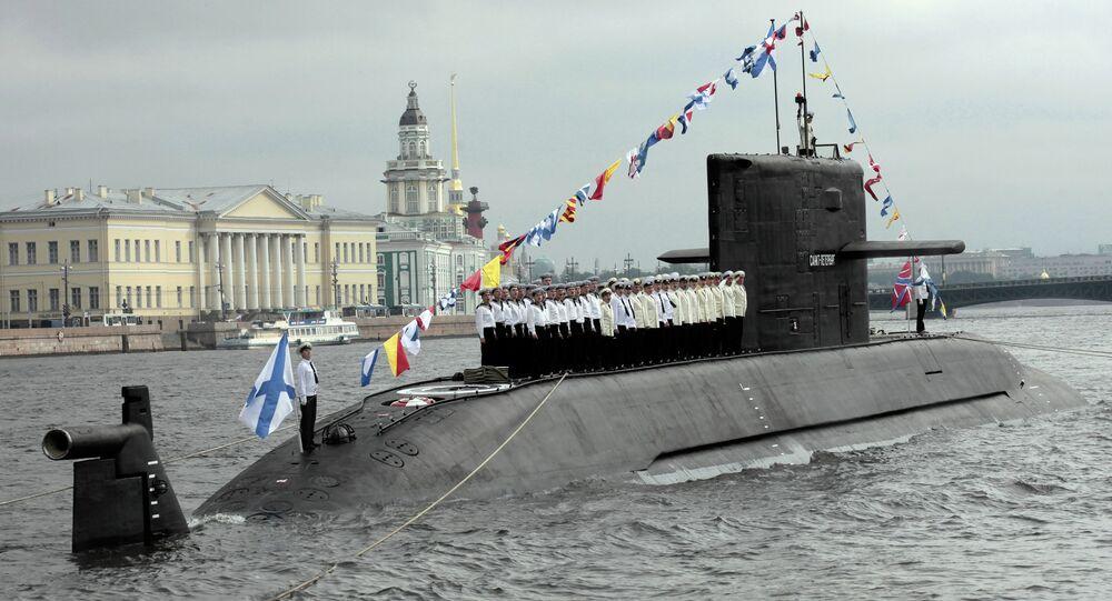 Submarino diesel-elétrico da Frota do Norte da Rússia (foto do arquivo)