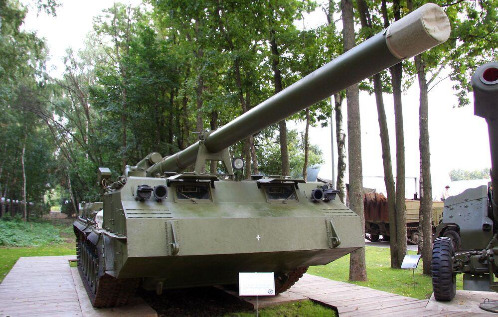 Canhão soviético autopropulsado 2S7 Pion foi criado para destruir objetivos estratégicos a distâncias de até 47 kmCanhão soviético autopropulsado 2S7 Pion foi criado para destruir objetivos estratégicos a distâncias de até 47 km