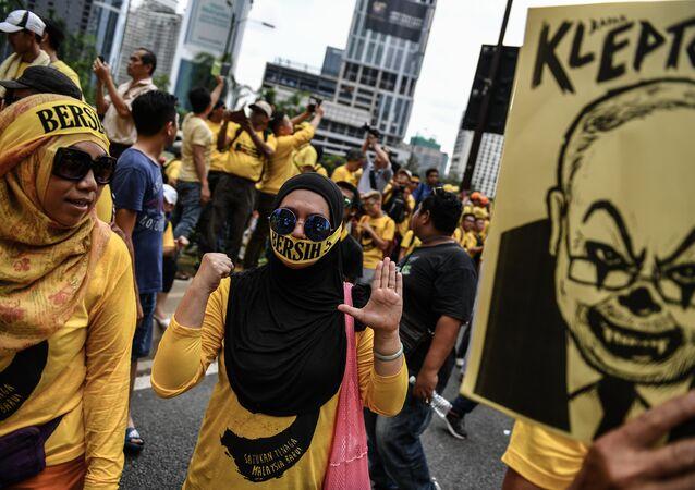 Protesto contra Najib Razak