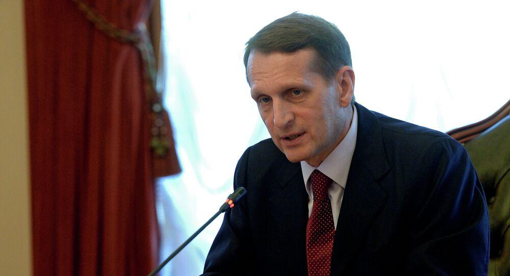 Sergei Naryshkin,  diretor do Serviço de Inteligência da Rússia