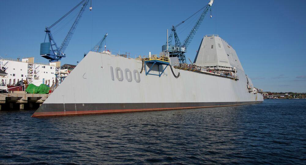 The future USS Zumwalt  destróier