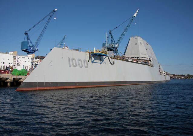 USS Zumwalt Navy destróier