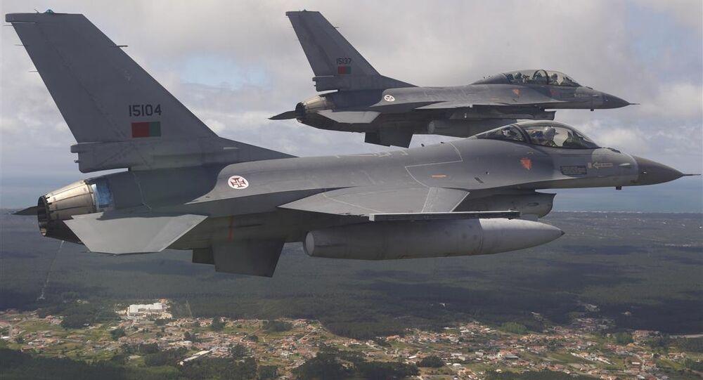 Caças F-16 da Força Aérea Portuguesa
