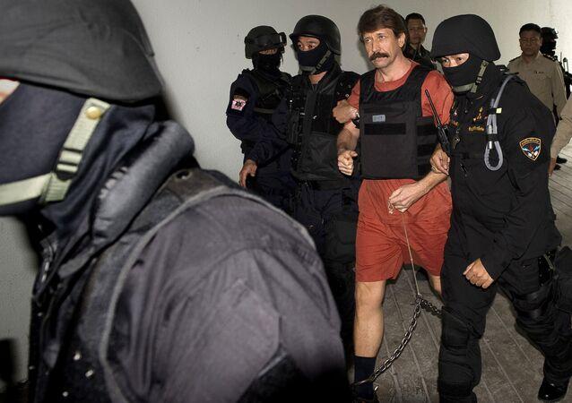 Empresário russo Viktor Bout, também conhecido como o 'senhor das armas', que cumpre pena de prisão de 25 anos nos EUA