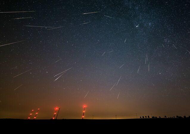 chuvas de meteoros (Perseidas)