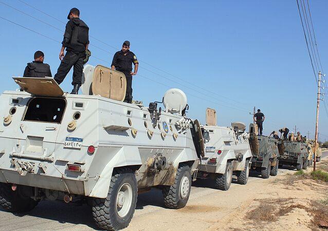 Forças de Segurança do Egito no norte do Sinai