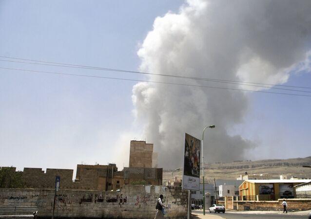 As consequências de ataques aéreos no Iêmen (arquivo)