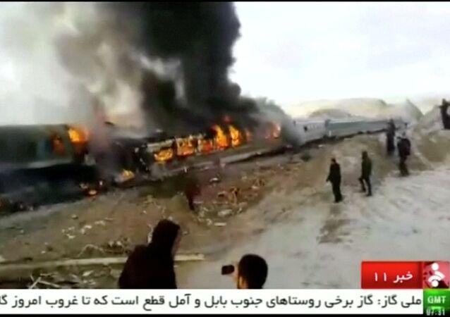 Acidente na província do norte-central de Semnan, Irã