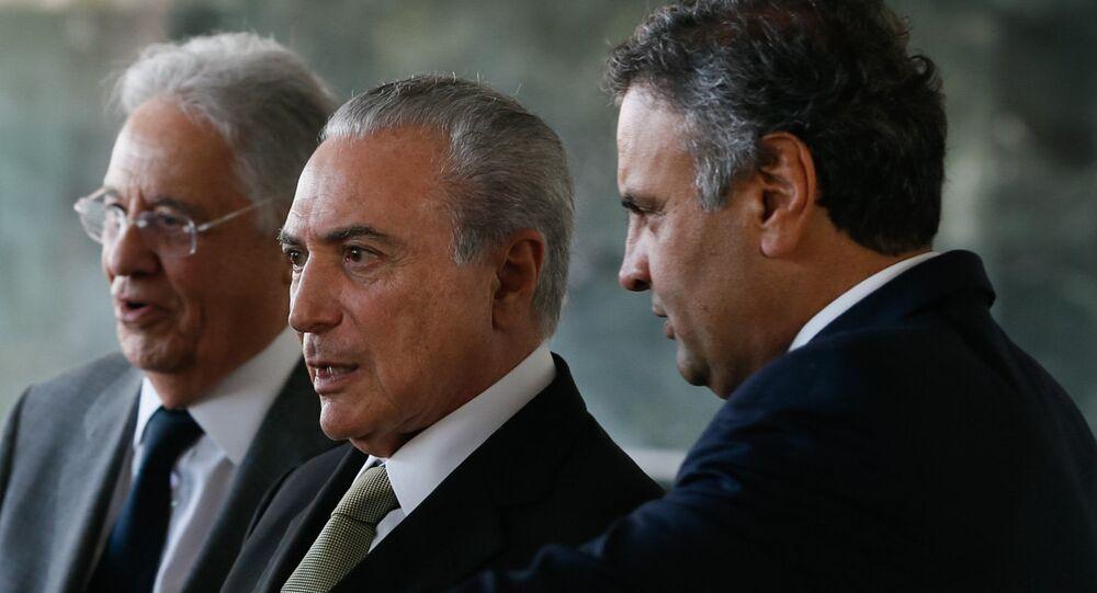 Michel Temer almoça com lideranças do PSDB no Palácio da Alvorada