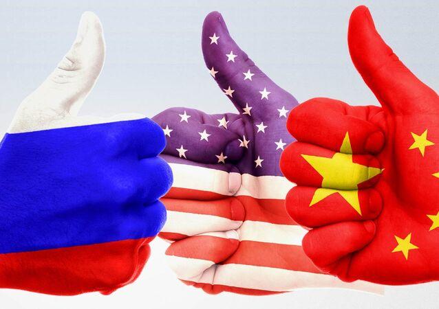 Ilustração: EUA, China e Rússia
