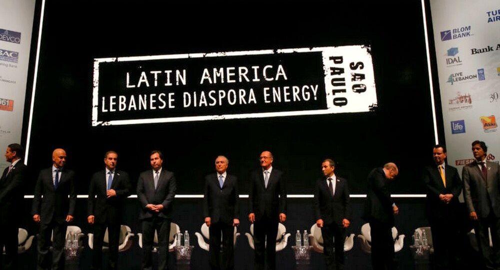 Michel Temer na abertura da Conferência Potencial da Diáspora Libanesa da América Latina, em SP