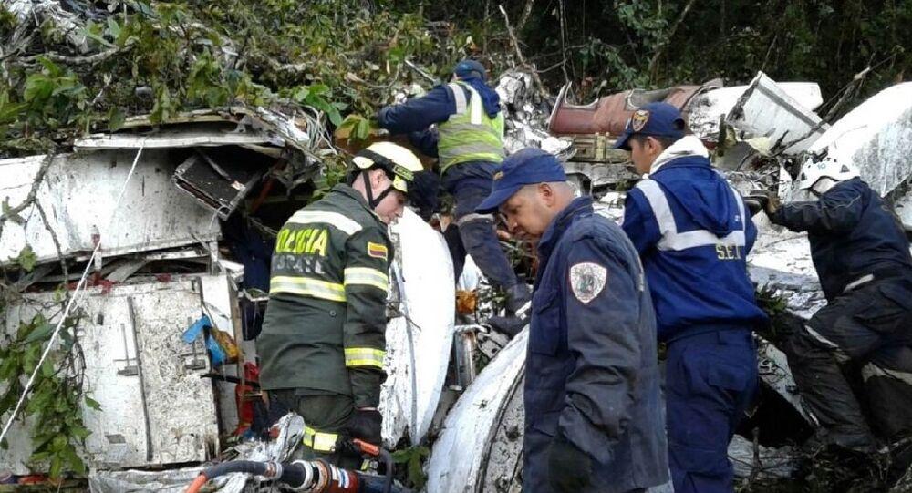Imagens do resgate do acidente com a equipe da Chapecoense