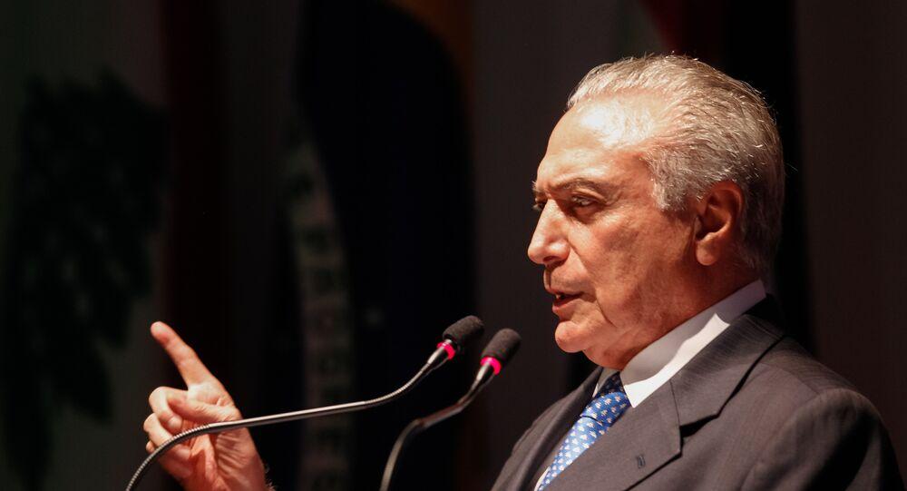 Michel Temer em evento em São Paulo