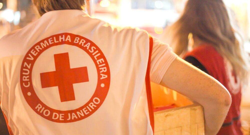 Cruz Vermelha Brasileira presta auxílio para as famílias e amigos das vítimas em Chapecó