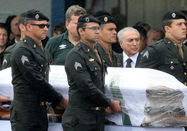 Presidente do Brasil, Michel Temer no aeroporto de Chapecó