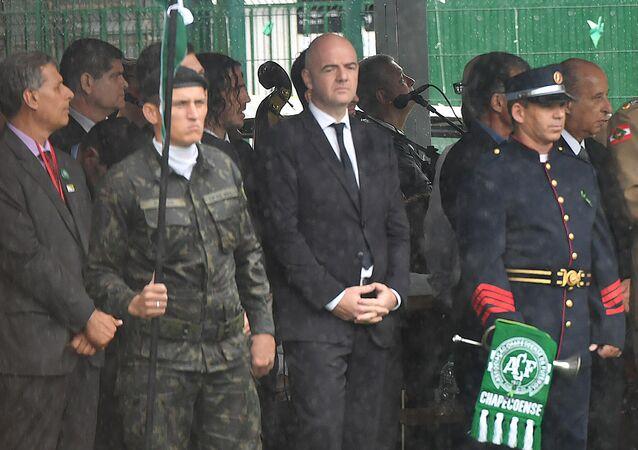 Gianni Infantino em Chapecó