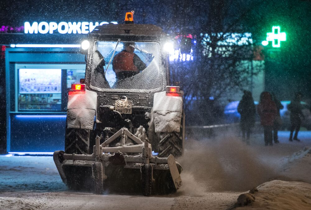 Recolha de neve em Moscou