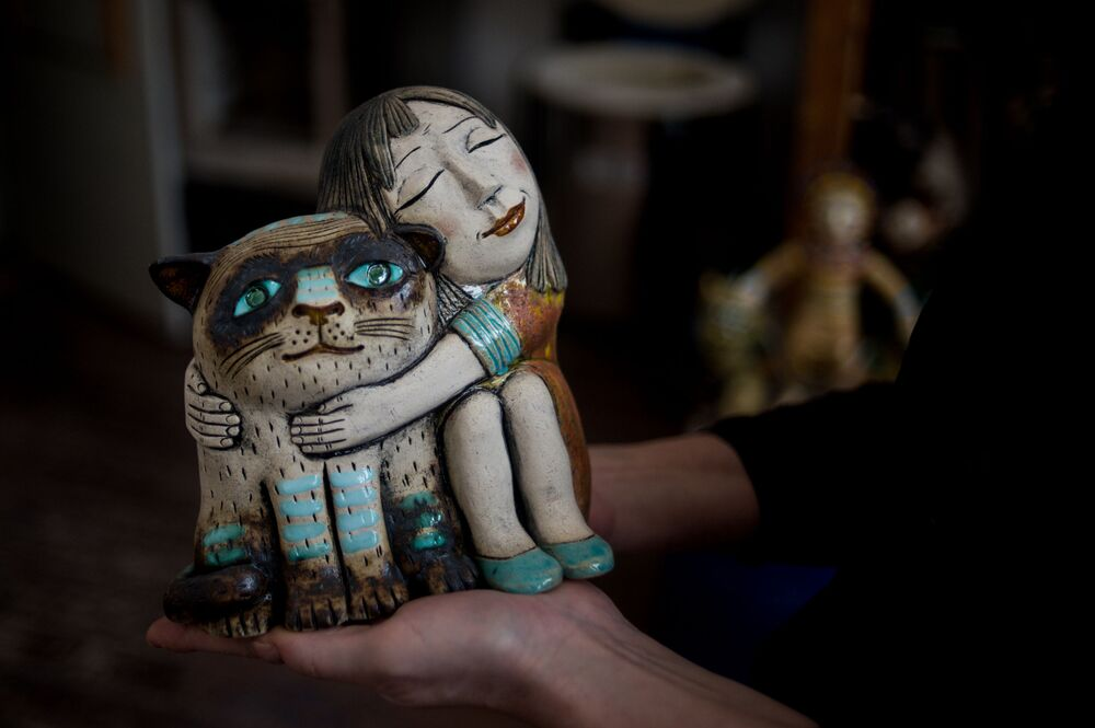 Escultura da artista russa, Galina Bulganina